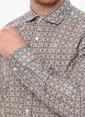 Network Kareli Uzun Kollu Gömlek Gri